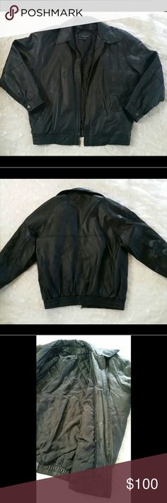 0acd8ead1727 Men s Black Cougar Leather Jacket 👉New Listing This warm