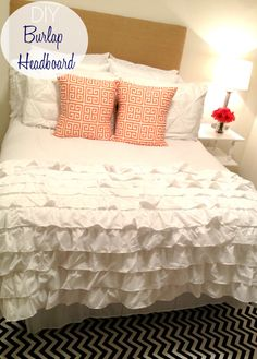 Belle in the City: DIY Burlap Headboard