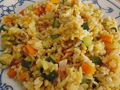 Schnelle Zucchini - Reispfanne (Rezept mit Bild) von schaf76 | Chefkoch.de