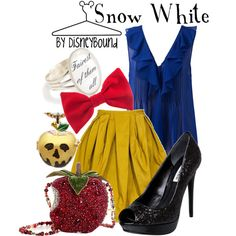 """""""Snow White"""" can I have that bag....just would not wear the necklace with this. I do love the necklace charm though"""