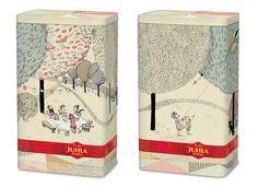 """""""Kahvipannun taikaa""""-kuvitus edestä ja takaa!  #coffee #packaging fun PD"""