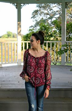 Paisley Sheer top