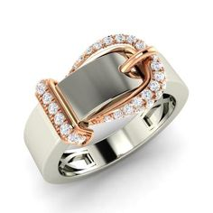 Round SI Diamond Ring in 14k White Gold