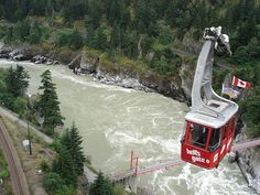 Hell's Gate Air-tram over the Fraser River #hellsgate #canyon #river