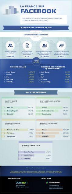 Las marcas más populares en FaceBook Francia