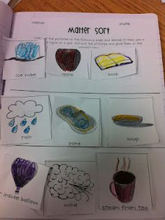 We also did a sorting activity and a Matter book where the kids got to categorize objects by their state of matter