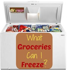 "What Groceries Can I Freeze? One question I do get asked a lot when I am teaching classes is ""What Groceries Can I Freeze? The best way to make great use of your coupon shopping is to stockpile."