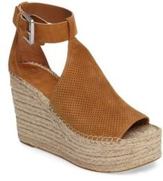 64dc09ccb7e5 MARC FISHER LTD Annie Perforated Espadrille Platform Wedge shoes  shoetrends shoetrendssummer2018 shoetrends2018sneakers