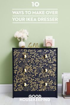 10 Ways to Make Over Your Favorite IKEA Dresser Transform this simple, inexpensive set of drawers into a showpiece for any room with these easy IKEA Rast hacks. Ikea Furniture, Upcycled Furniture, Furniture Projects, Furniture Makeover, Painted Furniture, Diy Projects, Furniture Stores, Dresser Makeovers, Bedroom Furniture
