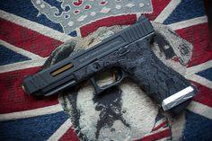 Glock 34 SAI slide / stippled frame (airsoft race gun)
