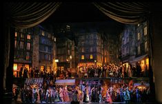 """The best Zeffirelli shows, including his Metropolitan Opera staging of Puccini's """"La Bohème,"""" provide gasp-inducing pleasures. Set Design Theatre, Stage Design, Metropolitan Opera, Scenic Design, Phantom Of The Opera, Classical Music, Outdoor Travel, Ny Times, Architecture Art"""