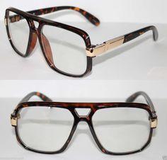 Cazal Design Nerd Clear Glasses Lens Run DMC Grandmaster Tortoise Brown Gold #NoName #Retro