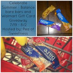 Couponing Momma Giveaways & Reviews: Giveaway | Celebrate Summer $15 Walmart GC & Balance Bar Giveaway US Ends 8/2