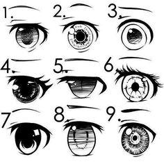 аниме глаза (рисовать)