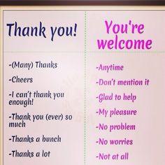 Algunas formas de agradecer y responder en inglés. Dilo ENIDIOMAS  FaceInstaTwitterPinte✌️ #cursosdeidiomasenccs #cursosdeidiomasenelmundo #elmejorregalo #traduccion #interpretacion #ApprendsLeFrancais #LearnEnglish #LerneDeutsch #Aprendeportugues  #Imparal'Italiano