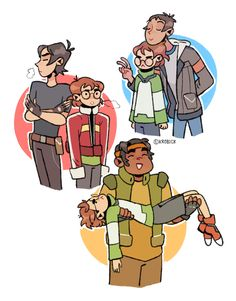 VLD fanart - Voltron kids shenanigans, Pidge is the baby in the bunch