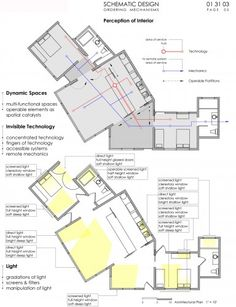 When working with existing homes, architects create diagrams of the site to see how various elements interact with the space.