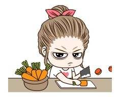 LINE Official Stickers - Drama Wife Animated Stickers Example with GIF Animation Love Cartoon Couple, Cute Cartoon Pictures, Cute Cartoon Girl, Cute Love Cartoons, Gif Pictures, Cute Love Gif, Cute Cat Gif, Cute Bear Drawings, Cartoon Gifs