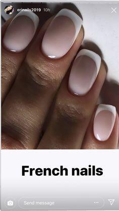 White Shellac Nails, Pink Ombre Nails, Gel Nails, Nail Polish, Nail Bags, Cute Nail Art Designs, Best Acrylic Nails, Crystal Nails, French Nails
