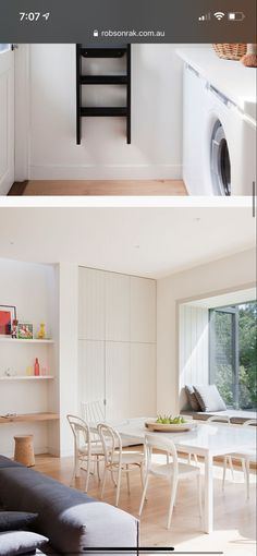 Stacked Washer Dryer, Washer And Dryer, Townhouse, Laundry, Home Appliances, Ideas, Laundry Room, House Appliances, Terraced House