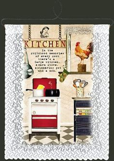 Kitchen Memories lace wall hanging.