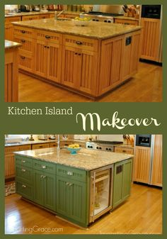 Kitchen island transformation! ImpartingGrace.com