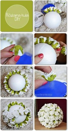 DIY boule de fleur  Make your own flower ball