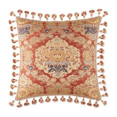 "Waterford Olympia Tasseled Decorative Pillow, 18"" x 18"""