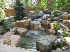How To Design A Japanese Garden With Water Backyard Features In Home And Interior. Landscaping Gallery at Outstanding Backyard Japanese Garden Pics Design Inspi Landscaping Around House, Pond Landscaping, Landscaping Supplies, Landscaping With Rocks, Design Patio, Rock Garden Design, Pond Design, Landscape Design, Fountain Design
