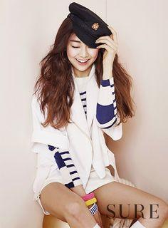 "kmagazinelovers: "" Ladies Code Rise and Sojung - Sure Magazine June Issue "" Fandom, Nautical Fashion, My Heart Is Breaking, Blue Grey, Adidas Jacket, Rain Jacket, Gym Shorts Womens, Windbreaker, Vogue"