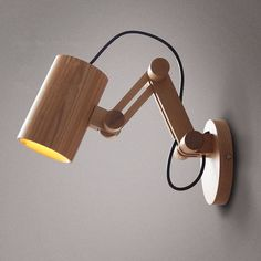 Oak Modern Wooden Wall Lamp Lights For Bedroom Home LightingWall Sconce Solid Wooden Wall Light Shipping