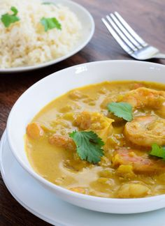 Indian Shrimp Coconut Curry - The Spice Kit Recipes Curry Recipes, Seafood Recipes, Indian Food Recipes, Asian Recipes, Soup Recipes, Cooking Recipes, Healthy Recipes, Ethnic Recipes, Indian Foods