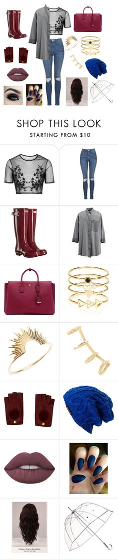 """""""Untitled #70"""" by aiyana-spn on Polyvore featuring Topshop, Hunter, MM6 Maison Margiela, MCM, Accessorize, Sarah & Sebastian, Yves Saint Laurent, Hermès, Spacecraft and Lime Crime"""