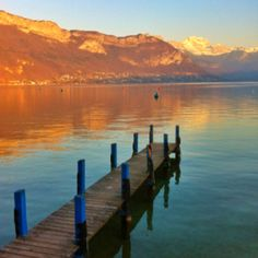 Sunset, lac d'Annecy