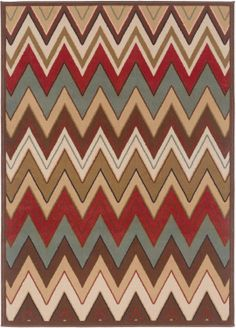 Tayse Rugs Laguna Collection 4648 Multi Brown Modern Area Rug Superarearugs