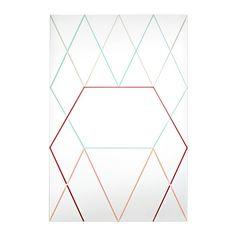 IKEA - IKEA PS 2014, Miroir, Peut être utilisé à l'horizontale ou à la verticale.Miroir avec pellicule anti-éclats au dos.