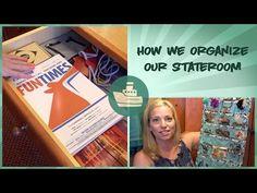 Cruise Ship Stateroom Organization - Carnival Miracle - YouTube