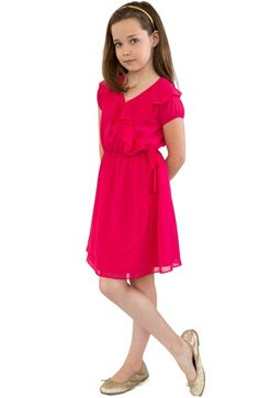 BLUSH by Us Angels Ruffle Dress (Big Girls) available at #Nordstrom