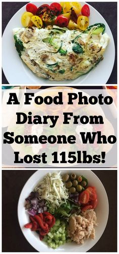 A Food Photo Diary From Someone Who Lost 115lbs. real doable healthy weight loss advice to get your started on your weight loss journey.