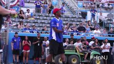 #OBJ at #BradWing's charity softball game! #Ode to #OBJ! #HipNJ #NewJersey #GardenState #Football #Homerun #charity #softball #nfl #Giants #NewYorkGiants #Live