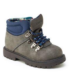 Look at this #zulilyfind! Gray & Blue Stone Boot #zulilyfinds