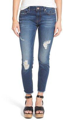 Shop Now - >  https://api.shopstyle.com/action/apiVisitRetailer?id=518099852&pid=uid6996-25233114-59 Women's Vigoss Distressed Raw Hem Skinny Jeans  ...