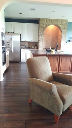 After the dust settled,  here it is.  Wood floor installation in Katy Texas