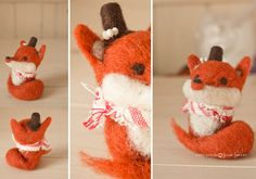 Red Fox, More, Gingerbread Cookies, Needle Felting, I Shop, Hands, How To Make, Crafts, Handmade