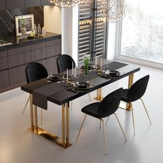 Faux Marble Dining Table, Simple Dining Table, Steel Dining Table, Dining Room Table Decor, Rectangle Dining Table, Dining Table Design, Dining Room Sets, Luxury Dining Tables, Luxury Dining Room
