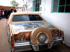 Our Lady of Guadalupe Lowrider, Good Friday, Chimayo, Mexico MYFANWY FRANKS, ETHNOGRAPHER AND PAINTER