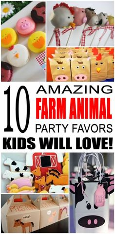 Find the best farm animal party favor ideas for kids. There are so many cool farm animal party favor ideas from goodie bags to candy, these farm animal party favor ideas are sure to be a hit with all the children. Easy, fun ideas for treats that any boy o Farm Party Favors, Farm Themed Party, Party Favors For Kids, 2 Year Old Birthday Party Girl, Boy Birthday Parties, Birthday Ideas, Farm Animal Birthday, Farm Birthday, Third Birthday
