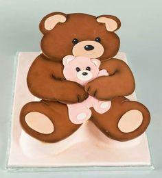 Teddy Bear Cutout Cake