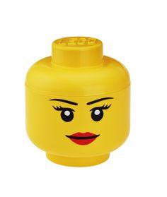 Tête de rangement Fille - LEGO Grande taille