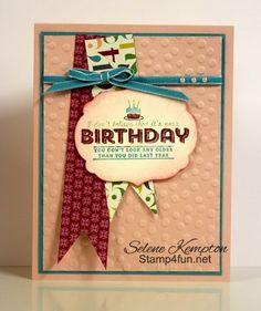 Stamp 4 fun with Selene Kempton: 3/26 Stampin' Up! Sweet Sorbet, Sale-A-Bration Designer Paper, See Ya Later Stamp Set Samples Part 2